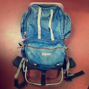 Vintage Jansport Scout metal frame hiking backpack